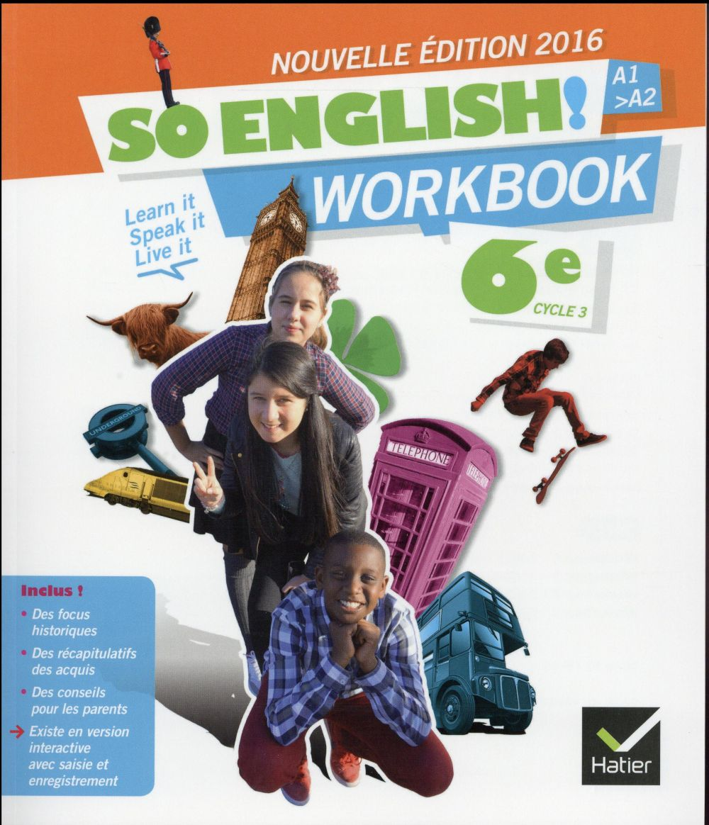 - SO ENGLISH! ANGLAIS 6E ED. 2016 - WORKBOOK